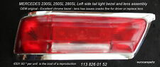 MERCEDES  230SL tail light  RED RED OEM 113 826 01 52 1963 -1967 Pagoda W113 #2