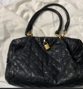 MARC JACOBS NY Black Quilted Genuine Leather Bag