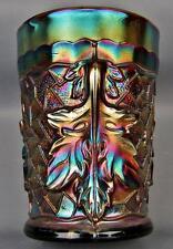 """CARNIVAL GLASS - DUGAN MAPLE LEAF Amethyst 4"""" Tumbler 3441"""