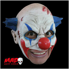 Deluxe Evil Clown Chinless Latex Mask for HALLOWEEN Costume SCARY Mouth Free