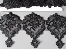 Bordado De Color Negro De Encaje De Corte 1 Metro sewing/costume/crafts / Corsetry