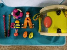 JustB-Byou Bug Toy Drum, Bells, Tambourine, Drumsticks Band Music set shaker egg