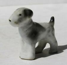 Bull Terrier Dog Figure Ceramic-Porcelain Hand Painted Made in Japan Vintage Fig