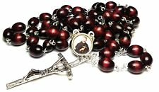 Cherry Relic Rosary 3rd class Saint Peregrine Laziosi patron cancer AIDS SIDA