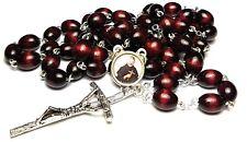 Cherry Relic Rosary 3rd class Saint Peregrine Laziosi patron cancer AIDS SIDA