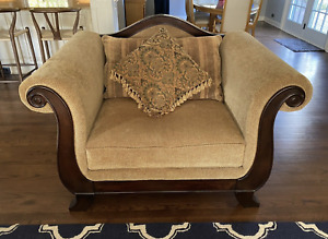 Deep And Wide Chenille Chair. Warm And Cozy