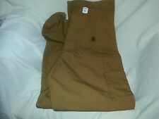 Carhartt New Dungaree Fit Work Pants Duck Brown,  Size 36x34