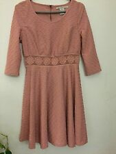 american rag dress fit & flare crocheted a-line L