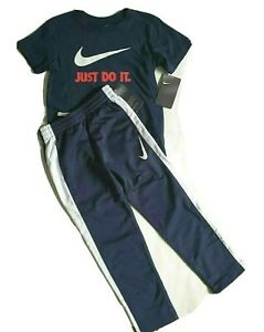 NIKE Boys 2pc Athletic Outfit T shirt Track Pants