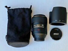 Nikon AF-S NIKKOR MICRO 105mm VR f/2.8 f2.8 G IF-ED 105 Macro US