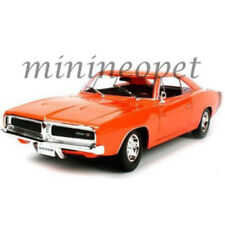 MAISTO 31387 1969 69 DODGE CHARGER R/T 1/18 DIECAST MODEL CAR ORANGE