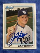 2010 Bowman Drew Vettleson #BDPP59 RC Auto Signed Autograph Rays