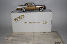 Danbury Mint 1957 Studebaker Golden Hawk 1:24 Scale Die Cast Model with Box