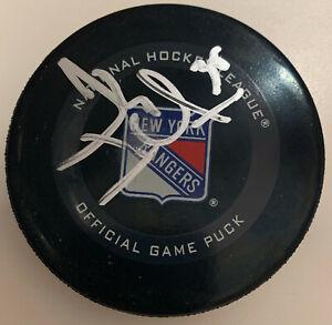 New York Rangers Henrik Lundqvist Signed Official Game Puck Fanatics Hologram