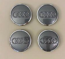 4x Audi Radnabendeckel 60mm grau Radnabenkappen Felgendeckel A1 A3 A4 A5 Q3 Q5