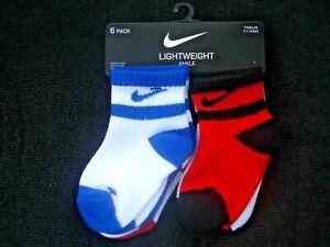 Nike Toddler Boy Lightweight Ankle Socks 6 Pair NEW