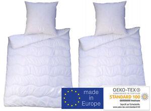 Bettenset Premium 1 - 4 teilig Steppbett Bettdecke 135x200 & Kopfkissen 80x80 cm