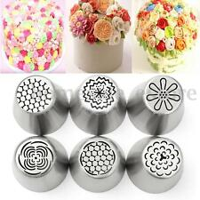 6Pcs Russian Tulip Flower Cake Icing Piping Nozzles Decorating Tips Baking Tools