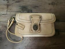 COACH Legacy Limited Wristlet Tan LEATHER Turnlock Wallet Anniversary