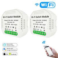 1/2 Way Wifi Smart Light Switch DIY Breaker Module Smart Life APP Remote Control