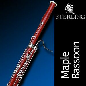 STERLING Bassoon SWBS-09 • With Case  • Superb Quality Solid Maple Wood •
