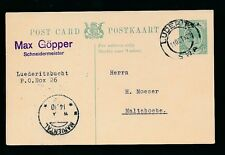 SOUTH WEST AFRICA KG5 STATIONERY CARD 1/2d LUDERITZ to MALTAHOEHE VFU 1929