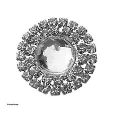 10 x Self Adhesive Double Round Clear Wedding Invitation Cluster Brooch Buckle