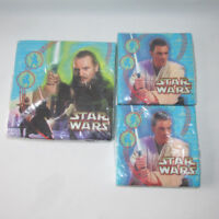 3 Vintage Star Wars Napkins Party Express Hallmark Birthday Episode 1 New Sealed