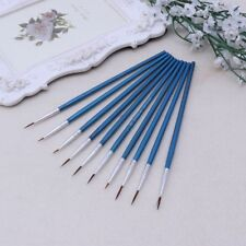 10X Nylon Hair Artist Paint Brush Acrylic Watercolor Round Fine Hand Point Tip