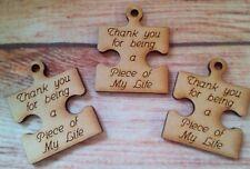 3 X  Laser cut Mini Jigsaw/ Puzzle piece scrapbooking Tag  craft blank (My Life)