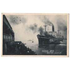 SHIPPING NYK Line Postcard, Goodbye, Good Luck, Old Postcard Unused