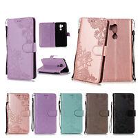 Magnetic Leather Flip Card Stand Wallet Case Cover For LG G7/V30/V35/K8 K10 2018