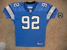 Detroit Lions #92 Shaun Rogers 2005 Home Game Worn Jersey