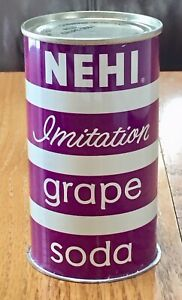 *Near Mint* Nehi Imitation Grape Soda Flat Top Soda Can--Pre-Zip Code