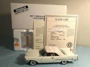 Danbury Mint 1957 Chrysler 300C Convertible -New w/ Box & Registration Papers
