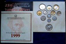REPUBBLICA SERIE DIVISIONALE 1999 ALFIERI 12 VALORI ZECCA FDC CON ARGENTO