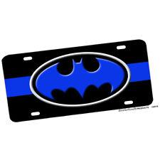 Thin Blue Line Batman Design Aluminum License Plate Novelty Batcave Sign