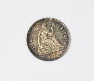 1872-S Above Bow HALF DIME >ANACS AU 58< Pretty Coin >SUPER FAST SHIPPING!!!
