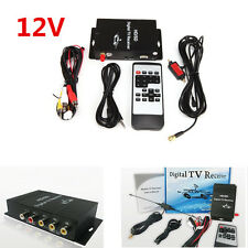 Black HD/SD Digital TV Receiver  Mobile Car TV Box 4 Video 2 Audio Output for US