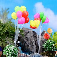 Jardín ornamento miniatura estatuilla mini globo planta hadas Dollhouse de*ws