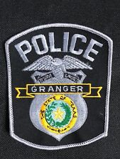 GRANGER POLICE EMBROIDERY  PATCH--B03