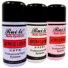 120MlL Acrylic Liquid Remover Brush Cleaner 3PCS Set for Nail Art Tips Decorate