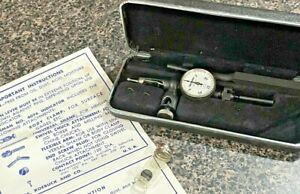 Vintage Craftsman #4076 Dial Test Indicator with Holder and Case