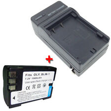 BLM-1 PS-BLM1 Battery+Charger for OLYMPUS CAMEDIA C-5060 WIDE /C-7070 WIDE ZOOM
