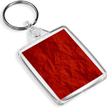 Crinkly Red Paper Keyring Gift Wrap Christmas Keyring Gift #14629