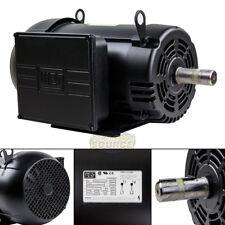 10 HP Air Compressor Duty Electric Motor 215T Frame 1720 RPM Single Phase WEG