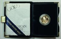 2000-W Proof 1/4 Oz American Gold Eagle $10 Coin w/ Box & COA