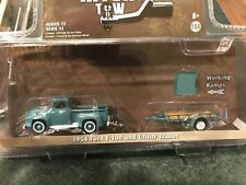 Greenlight  HITCH & TOW  1954 Ford F-100 Pickup   w/  utility Trailer