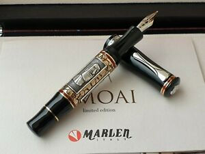 Marlen Moai L.E. (288 pcs) Fountain Pen | Italian Resin, Bronze, Silver | Piston