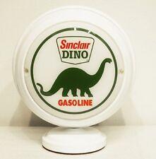 SINCLAIR DINO GASOLINE LIGHTED MINI GAS PUMP GLOBE WHITE BODY OIL AUTO CAR SIGN